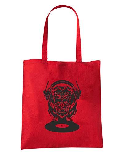 Borsa Shopper Rossa FUN0135 CAT SCRATCH FEVER