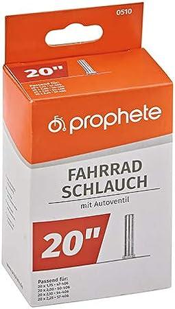 schwarz L Prophete Fahrradschlauch 20 X 1,75-20 X 2,125 47//57-406