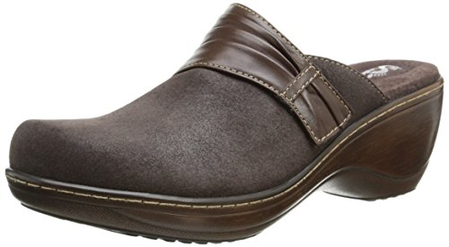 Softwalk Women's Mason Mule,Dark Brown,9.5 W US by SoftWalk