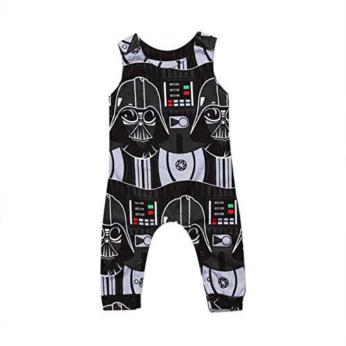Infant Toddler Baby Boys Star Wars Sleeveless Romper One-Piece Jumpsuit Clothes (12-18Months)]()