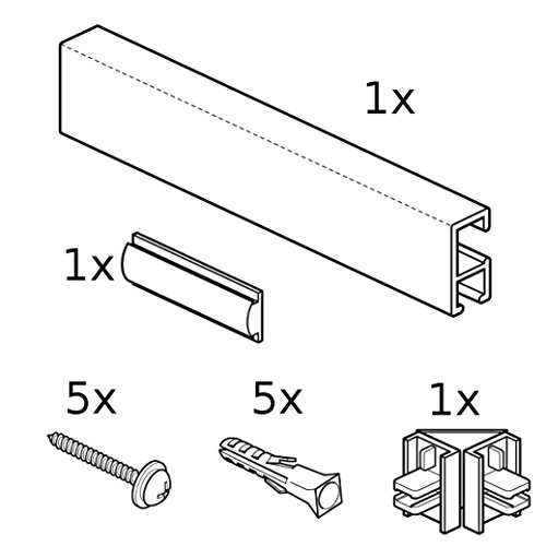 """STAS Minirail Picture Hanging System White Complete Kit 78 3//4/"""""""