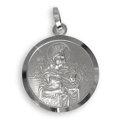 Heilige Barbara Medaille Anhä nger Patronin der Bergleute und Kumpel, Durchmesser 18mm GRATIS-SOFORT-GRAVUR Durchmesser 18mm (Art.213216) GRATIS-SOFORT-GRAVUR Viennagold
