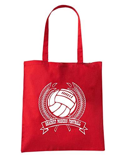 FOOTBALL TUM0197 Rossa Borsa Shirt Speed MODERN Shopper AGAINST qnB607UxFw