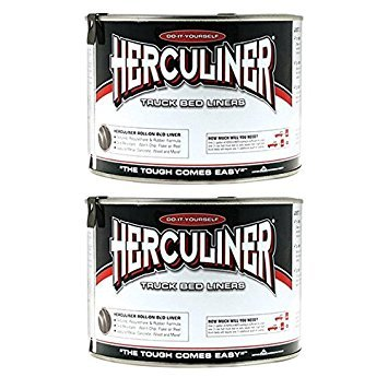 2-Pack Herculiner HCL0B7 Brush-on Bed Liner - Quart