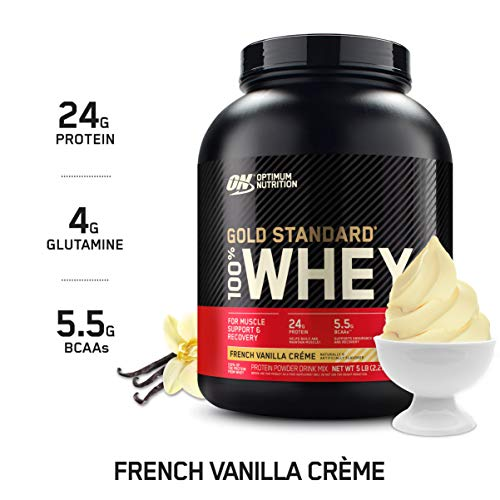 Optimum Nutrition Gold Standard 100% Whey Protein Powder, French Vanilla Creme, 5 Pound (Packaging May Vary)