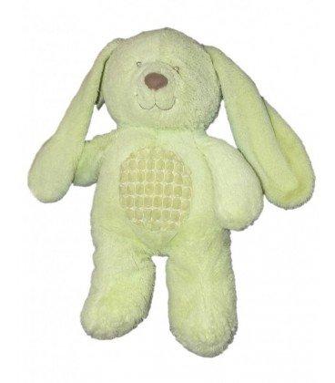 Peluche perro de peluche conejo verde Tex Baby Carrefour CMI Nicotoy 35 cm