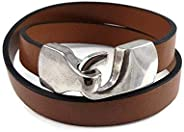 Brown Leather Wrap Bracelet Jewelry Gift for Women