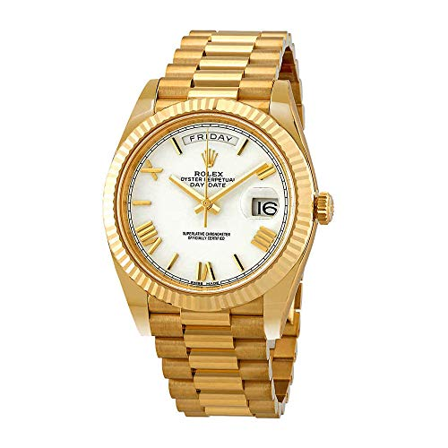 Rolex Day-Date 40 Automatic White Dial Men's 18kt Yellow Gold President Watch 228238WRP 18kt Yellow Gold Mens Watch