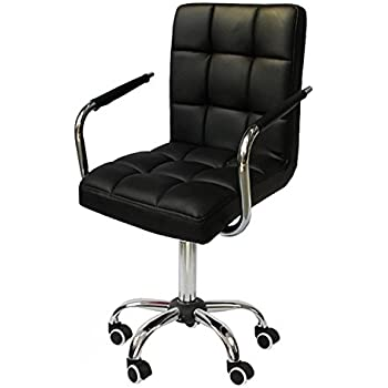 go2buy rolling black modern ergonomic swivel leather office chairs computer chair executive home office furniture on wheels