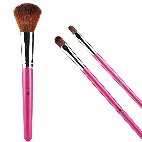 Joly MSQ 3pics Eyeshadow Powder Lip Blush Brush Professional Makeup Brush Set Rose Blending Eyeshadow Lip Kit for Middle Eye Shadow and Small Eye Shadow