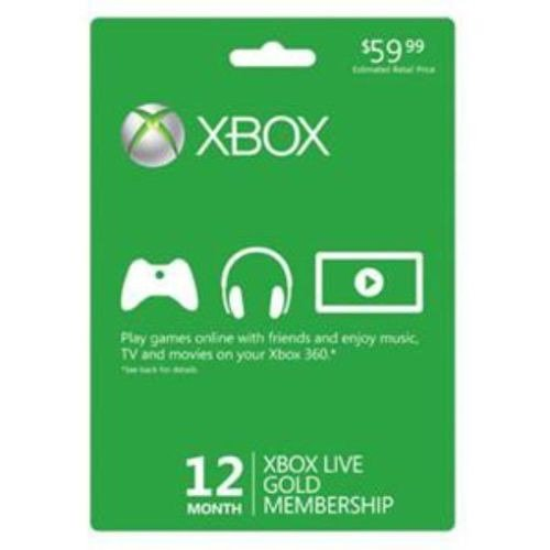Xbox Live Gold 12 Month Subscription Card [Microsoft] (Xbox 360 Live 12 Month Gold Card)