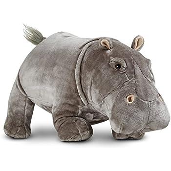 Melissa & Doug Giant Hippopotamus - Lifelike Stuffed Animal (over 2 feet long)