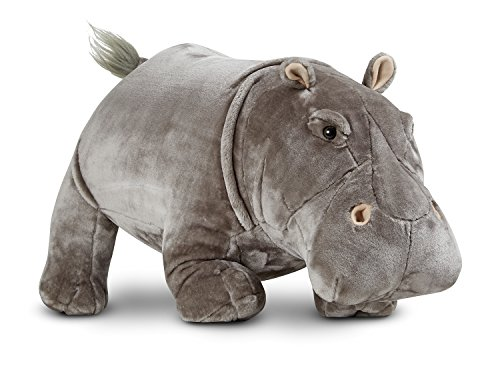 Melissa & Doug Giant Hippopotamus - Lifelike Stuffed Animal (over 2 feet long) from Melissa & Doug