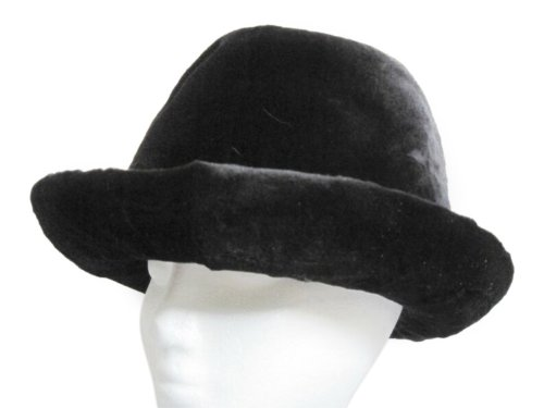 Black Sheared Mink Cowgirl Hat by FursNewYork