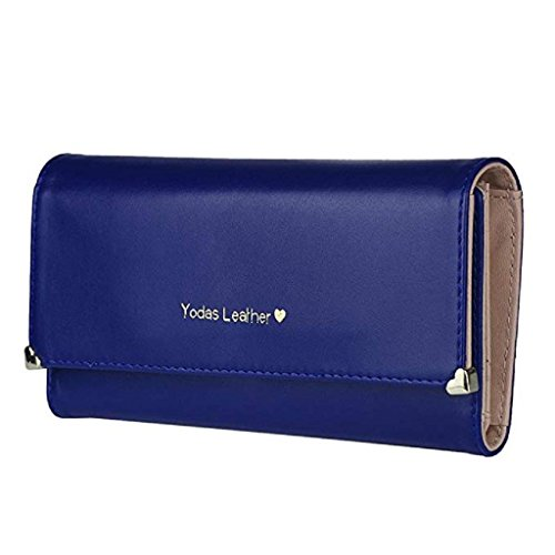 Clutch Long PU wallet Gift Wallet Elegant Women 2018 Blue wrist Clearance Wallet Bags Purse cute Leather Noopvan wallets w4XqHBx