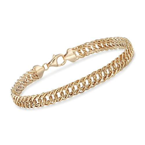 (Ross-Simons 14kt Yellow Gold Double Oval-Link Bracelet)