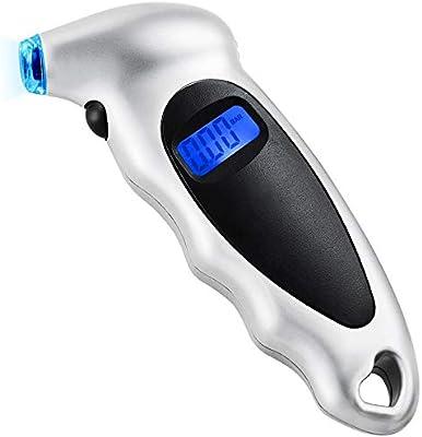BFYH Reloj Digital de presión de neumáticos, manómetro Digital de ...