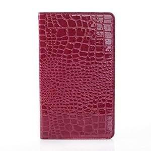 ZCL- Caso del patrón del cocodrilo de lujo Monedero Monedero de cuero para Samsung Galaxy Tab 8.4 Pro T320 (colores surtidos) , Púrpula