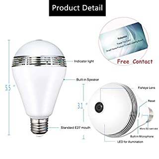 Wifi light bulb camera do it yourselfore 1080p wifi light bulb camerahd wireless ip camera home security system night vision dual solutioingenieria Image collections