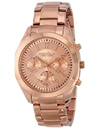 Bulova Caravelle New York Women's 44L115 Analog Display Japanese Quartz Rose Gold Watch