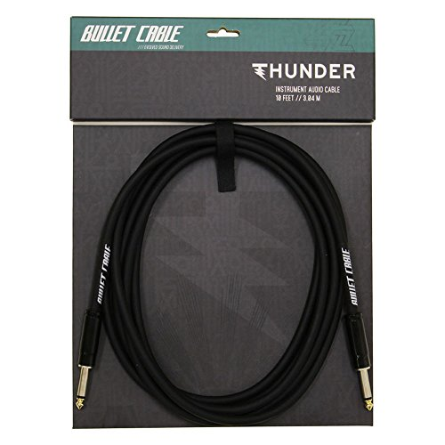 Bullet Cable - Thunder Cable - 10' (3.04m) Black - Straight Ends