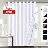 Flamingo P Extra Wide Blackout White Curtains 100×84 for Bedroom Blackout Curtains for Patio Door, Energy Saving Thermal Insulated Lined Curtains, Grommet Top, Pure White Review