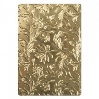 Sizzix 662716 3-D Texture Fades Embossing Folder, Gold by Sizzix