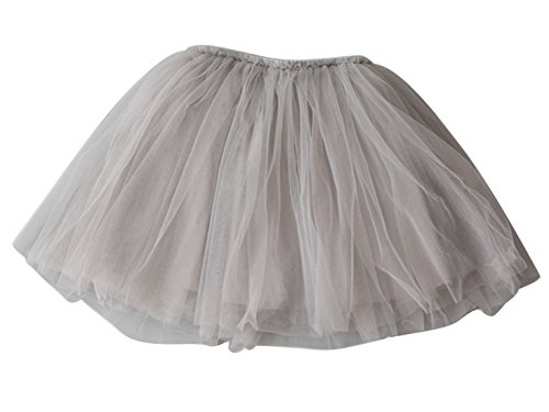Aivtalk Baby Girls Birthday Skirt Layered Tutu Summer Casual Dancewear 2-3T Grey ()