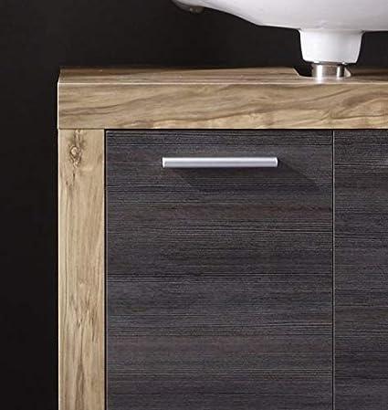 Nb. trendteam smart living Badezimmer 5-teilige Set Kombination Cancun Boom mit viel Stauraum 175 x 184 x 34 cm in Nussbaum Satin