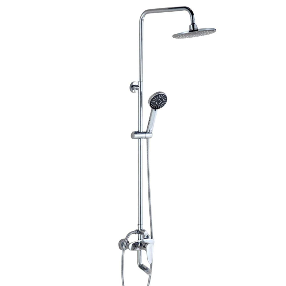 Shower Set, Stainless Steel Shower, Liftable, Jade Three-speed Shower, Hot And Cold Faucet