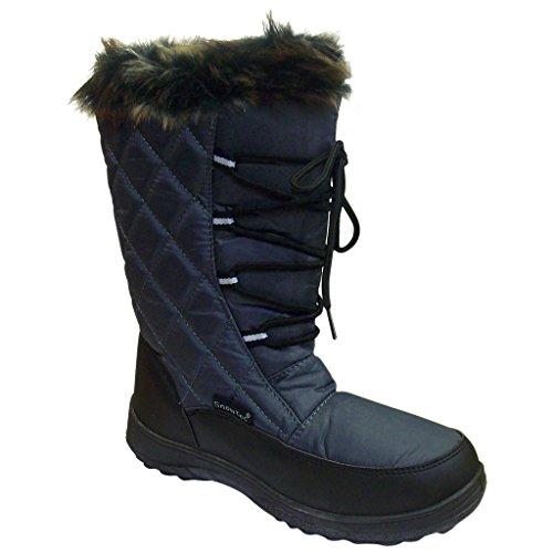 Snow Tec Women's Frost-2 Gray Mid Calf Snow Boots 11