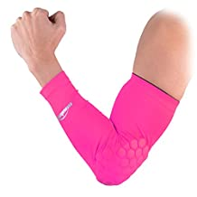 COOLOMG Combat Basketball Pad Protector Gear Shooting Hand Arm Elbow Sleeve Adult/Child