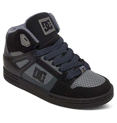 DC Shoes DC Youth Rebound Skate Shoes, Grey/Black/Grey, 11 M US Little Kid