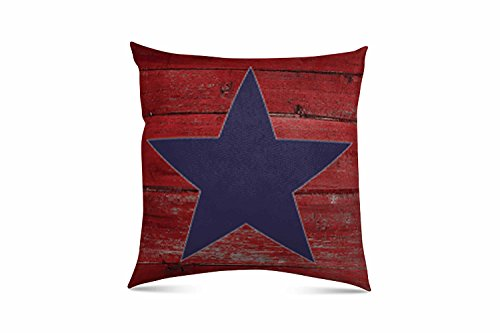 Lone Star Throw (Stratford Home Eco Friendly Limited Edition Americana Indoor Decorative Throw Pillow (Lone Star) 18