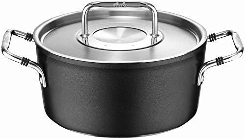 Fissler luno / Aluminium-Kochtopf (Ø 24cm, 4,9 L) inkl. Edelstahl-Deckel, Antihaftversiegelt, Kochtöpfe-beschichtet, für alle Herdarten - auch Induktion