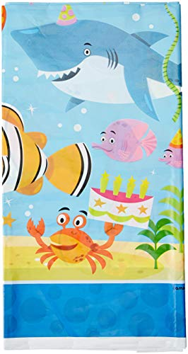 (Amscan Table Cover, Ocean Buddies, Party Accessory, Multicolor)