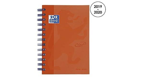 Oxford 100735778 School Soft Touch 2018 – 2019 1 – Agenda escolar día página, 12 x 18 cm, Naranja