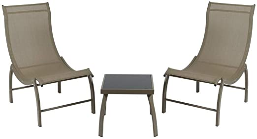 BigBuy Home Muebles de Jardin (3 pcs) Aluminio, Talla única: Amazon.es: Jardín