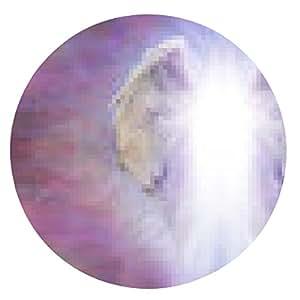 alfombrilla de ratón Ángel alas y la bandera Luz - ronda - 20cm