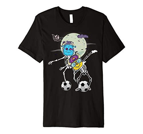 Halloween Soccer Skeleton Floss Zombie Dab Monster Shirt Boy ()