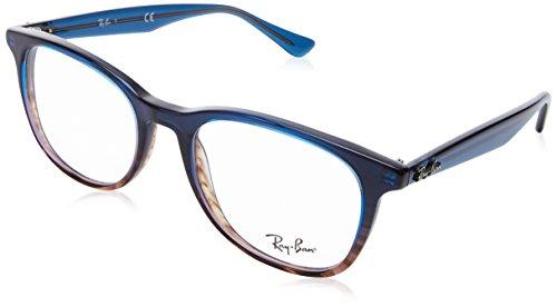 Ray-Ban 0rx5356 No Polarization Square Prescription Eyewear Frame, Gradient Blue on Striped Grey, 52 mm ()
