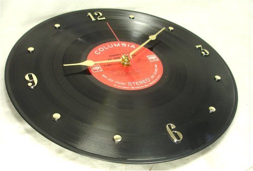 "JOHNNY CASH Recycled Vinyl Record Clock – ""San Quentin/Folsom Prison"" (Clock Recycled)"
