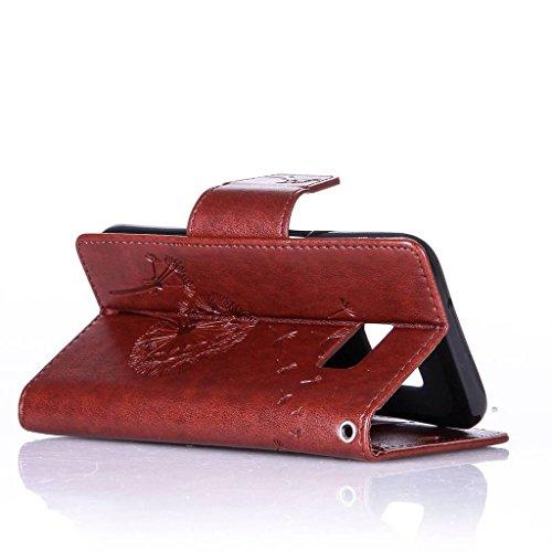 Uming® Patrón Especial de la serie de impresión colorida caja de la PU de la pistolera Caso Holster case ( Diamond Embossing Dandelion Black - para IPhone6SPlus IPhone 6SPlus 6Plus IPhone6Plus ) de cu Diamond Embossing Dandelion Brown