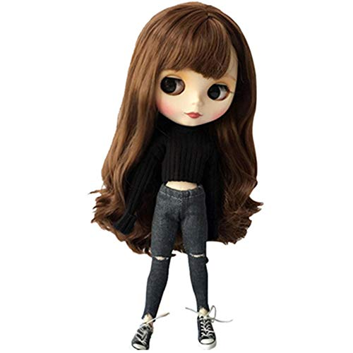Doublewood Handmade Causal Sweater & Jean/Pants Replacement for Blythe Doll, 1/6 Fashion Doll Clothing Set Accessories Doll Clothes Compatible with Blythe ICY Pullip Doll