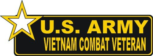 United States Army Vietnam Combat Veteran Bumper Sticker Decal 6