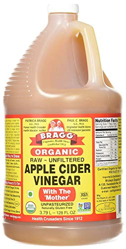 Bragg Organic Apple Cider Vinegar, Raw, Unfiltered, With The Mother, 128 Oz (List Of Uses For Apple Cider Vinegar)