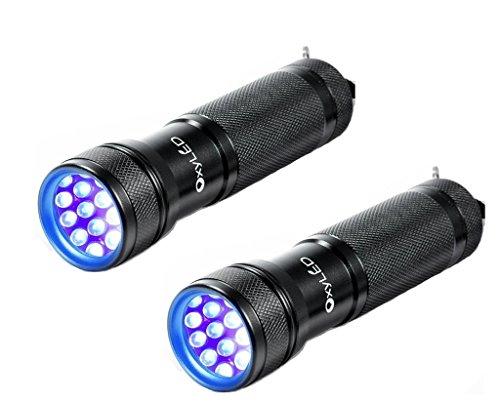 OxyLED Ultraviolet Blacklight Flashlight Batteries