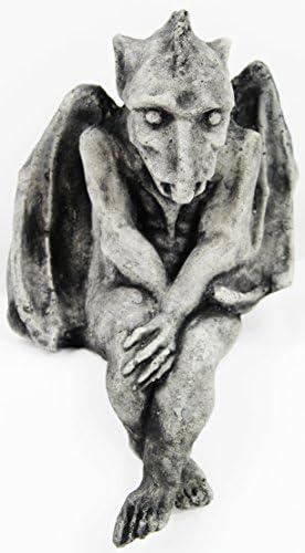 Fleur de Lis Garden Ornaments LLC Sitting Gargoyle Concrete Statue