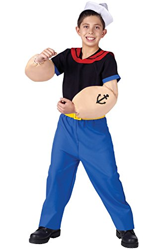 Popeye the Sailor Man Child Costume Medium (8-10)