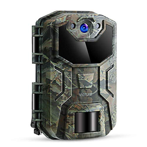 Victure Trail Camera 16MP 1080 HD 2.0' LCD Game Cam Night Vision Motion Activated with Upgrade Waterproof Design 38Pcs IR LEDs No Glow for Wildlife Hunting and Surveillance